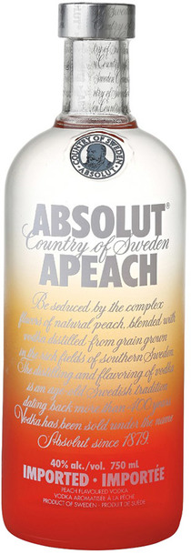 absolut apeach 1000ml bottle