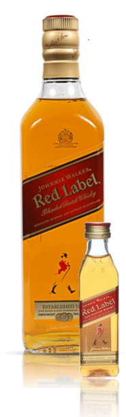 Johnnie Walker Red 700ml plus Miniature