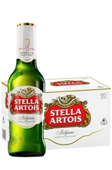 Stella Artois Longneck Beer Bottle and case