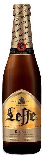 Leffe blond beer bottle