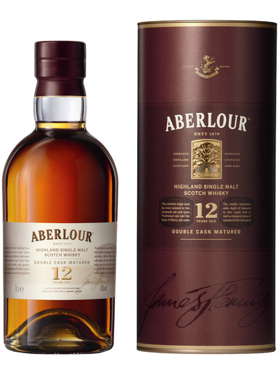 Aberlour 12 Year Double Cask Matured 700ml bottle and box