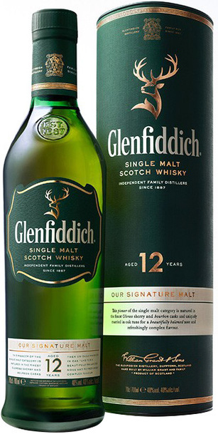Glenfiddich 12 year 700ml bottle and box