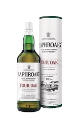 Laphroaig Four Oak 1L bottle and Box