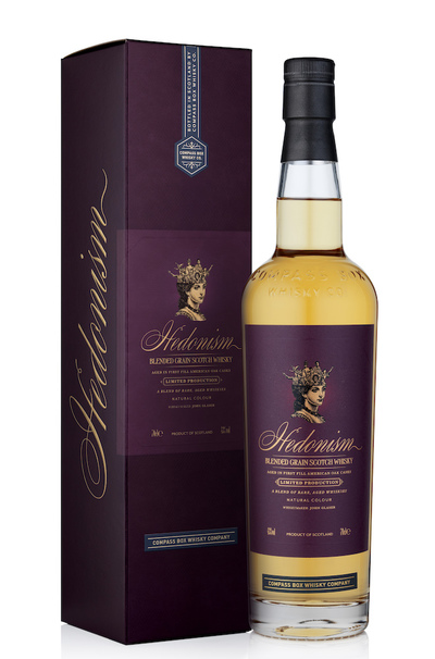 Compass Box Hedonism 750ml bottle and box