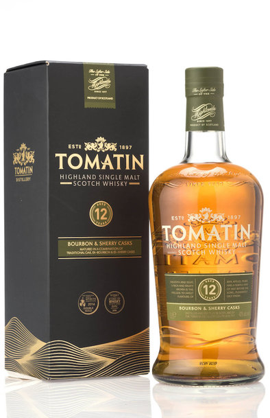Tomatin 12 year bottle and box