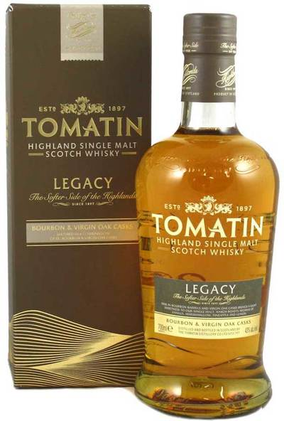 Tomatin Legacy 1L bottle and box