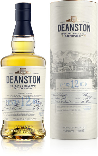 Deanston 12 year bottle and box