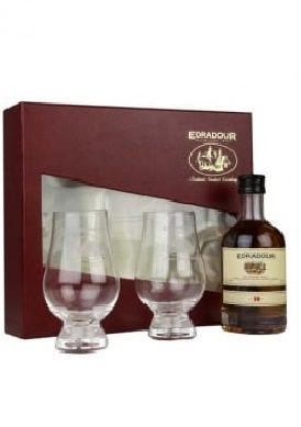 Edradour 10 Year 200ml Gift Pack with 2 Glasses