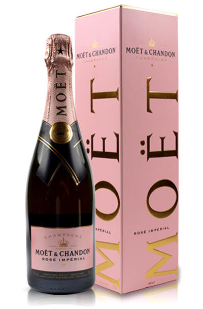 Moet chandon rose imperial with box