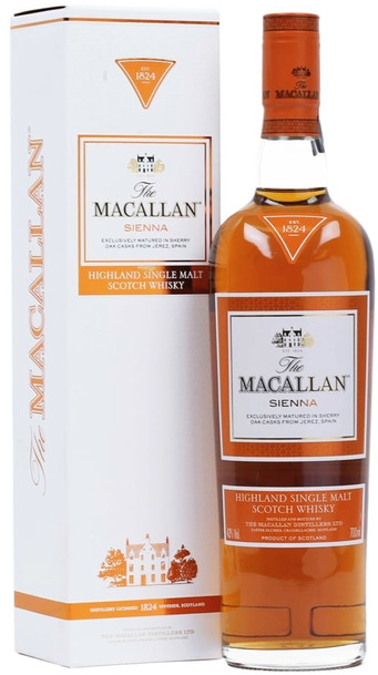 Macallan Sienna 700ml bottle and box