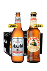 24 x Asahi Super Dry Beer Bottles Case