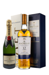 Moet & Chandon Imperial w/ Gift Box Macallan 12 Year Double Cask w/Gift Box