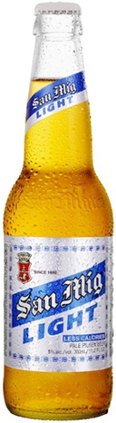 San Miguel Light Beer Bottle