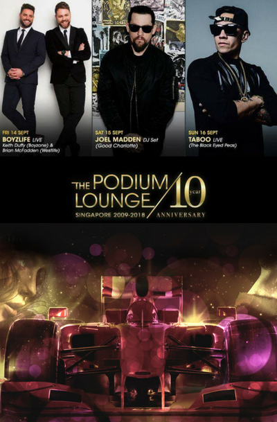 1 x Sun Discounted Tix 16/09 Podium Lounge ft. Taboo