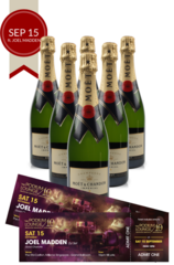 6 x Moet Brut Podium Lounge plus 2 discounted tickets for Podium Lounge SATURDAY 15 Sep ft JOEL MADDEN