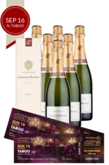 6 x Laurent Perrier Bundle plus 2 discounted tickets for Podium Lounge SUNDAY 16 Sep ft TABOO