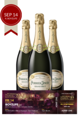 3 x Perrier Jouet Grand Brut plus 1 discounted Podium lounge ticket FRIDAY 14 Sep ft BOYZLIFE