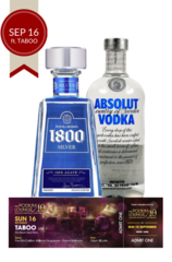 F1 Vodka Tequila Bundle plus 1 discounted ticket for the Podium Lounge SUNDAY 16 Sep ft TABOO