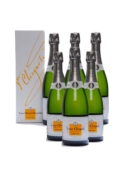 6 x Veuve Clicquot Demi Sec w/Gift Box Podium Lounge