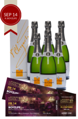 6 x Veuve Clicquot Demi Sec w/Gift Box plus 2 discounted tickets for Podium Lounge FRIDAY 14 Sep ft BOYZLIFE