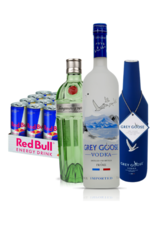 Grey Goose 1L FREE Chiller Pack Special Ed. Tanqueray No. Ten 24 x Red Bull Energy Drink Can Case