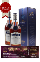 2 x Martell Cordon Bleu w/ Gift Box w/ 1 discounted ticket Podium Lounge FRIDAY 14 Sep ft BOYZLIFE