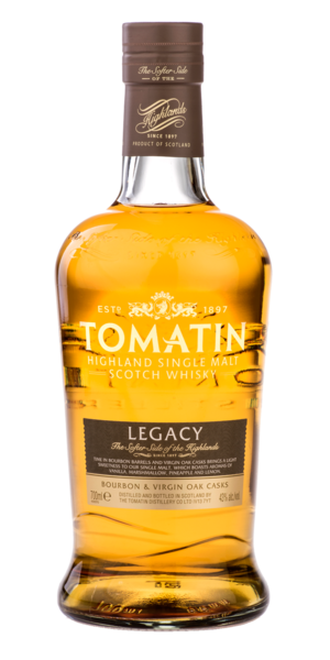Tomatin Legacy 700ml Gift Set w/Glasses