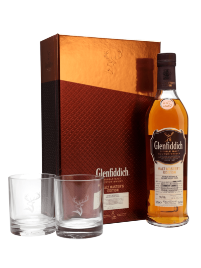 Glenfiddich Malt Master's Edition 700ml + 2 Gift Glasses w/ Gift Box