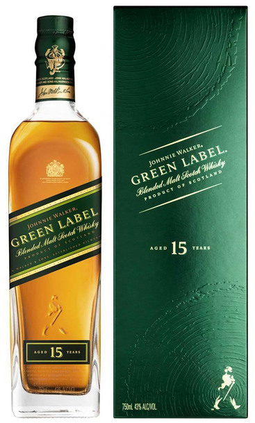 Johnnie Walker Green Label 15 yr Single Malt 1L w/ Gift Box
