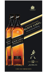 Johnnie Walker Black Whisky Twinpack 1L