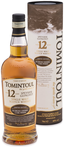 Tomintoul 12 yr Oloroso Finish Single Malt 700ml w/ Gift Box