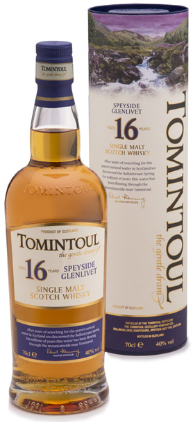 Tomintoul 16 yr Single Malt 700ml w/ Gift Box