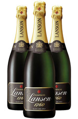 3 Pack Lanson Black Label Brut Champagne