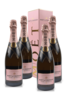 Moet & Chandon Rose Imperial Brut 4 Pack bottles and box