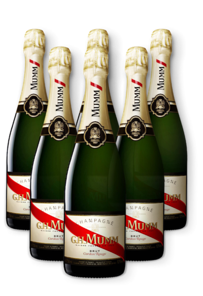 CNY 6 pack G. H. Mumm Cordon Rouge