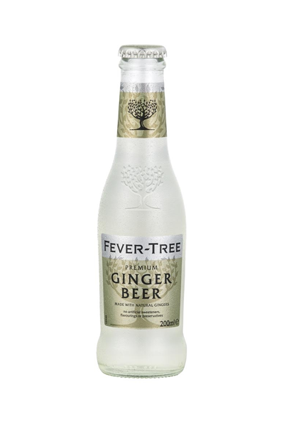 x 24 Fever-Tree Ginger Beer Bottle Case 200ml