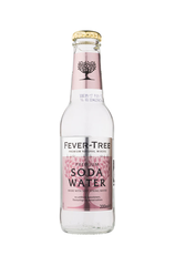x 24 Fever-Tree Soda Water Bottle Case 200ml