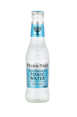 x 24 Fever-Tree Mediterranean Tonic Water Bottle Case 200ml