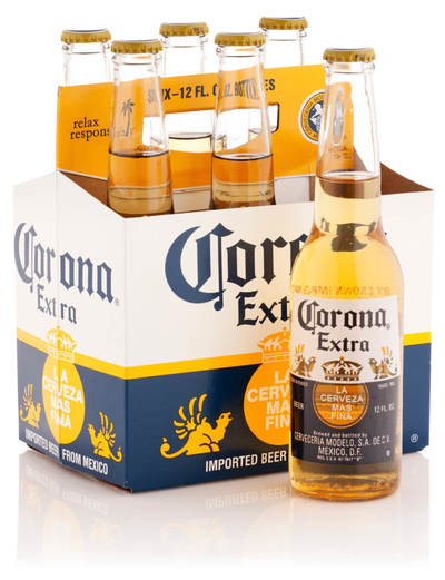 Corona extra beer six pack