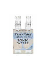 4 x Fever-Tree Light Tonic Water Bottle 200ml