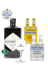 1 x Hendrick's 1L + 8 x Fever Tree Gin & Tonic Set w/ FREE Copa Glass