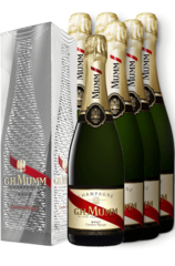 G. H. Mumm Cordon Rouge Moiré Effect 6 pack w/Gift Box