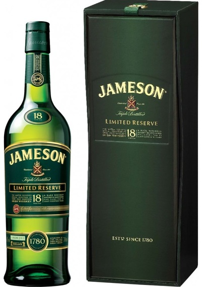 John Jameson Irish Whiskey 18 Year w/Gift Box 700ml