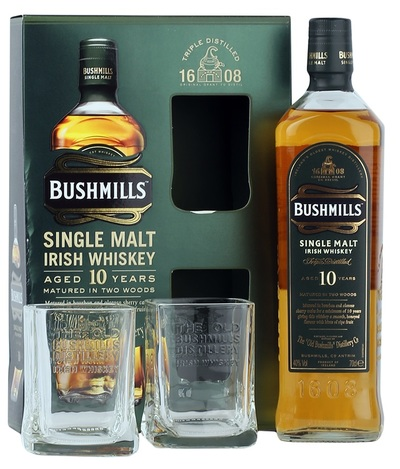 Bushmills 10 2 glasses large