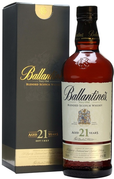 Ballantine  21yo scotch whisky  croped