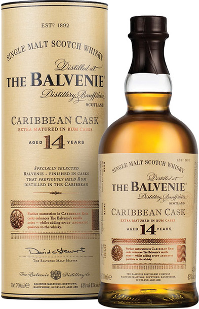 Balvenie 14 Year Caribbean Cask 700ml w/Gift Box
