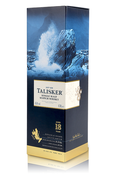 Talisker 18 year box