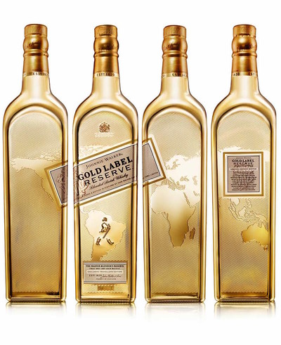 Johnnie walker gold label reserve limited edition bottle 4 sides