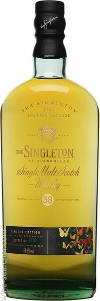 The singleton of glendullan 38 year old single malt scotch whisky
