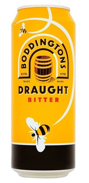 24 x Boddingtons Draught Bitter Beer Can Case